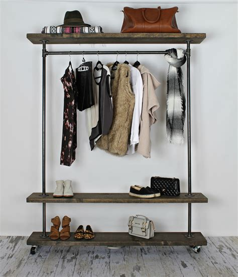Clothes Rack Industrial by Tips Tricks Alluring Industrial Clothing Rack For