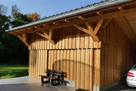 Holzgarage Mit Carport by Holzgarage Als Kompromiss Zwischen Carport Und Garage