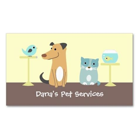 Pet Sitter Business Cards Templates by Pet Sitter S Business Card Animal Pet Care Business Card