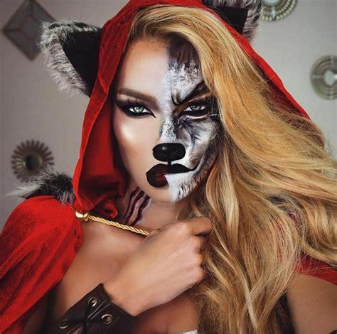 10 best wolf makeup images on pinterest artistic make up maquillaje de halloween para chicas insp 237 rate con estas