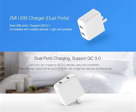 Charger Xiaomi Vooc Fast Charging 2ere 2port Usb Ori xiaomi zmi ha622 charge 3 0 dual usb ports charger