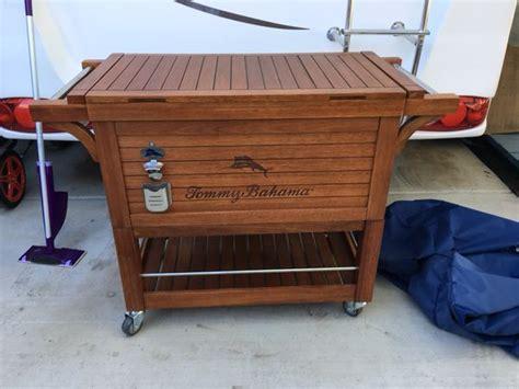 Bahama Patio Cooler Bahama Wood Outdoor Cooler Sports Outdoors In