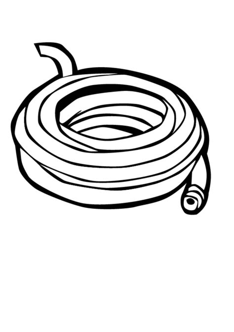 Water Hose Coloring Page | free hose coloring pages