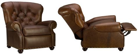 deep tufted leather recliner  buster reclining chair