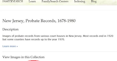 New Jersey Probate Court Records Family History Research By Jody New Jersey Probate Records