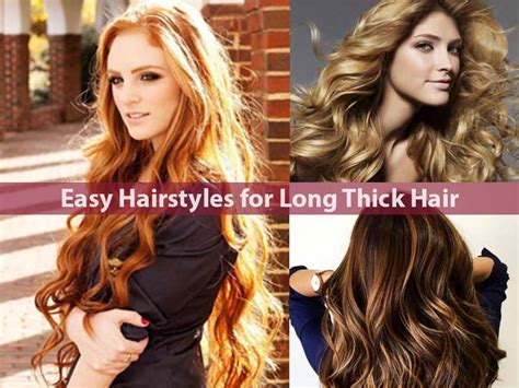 Easy Hairstyles For With Thick Hair by Easy Hairstyles For Thick Hair Hairstyle For