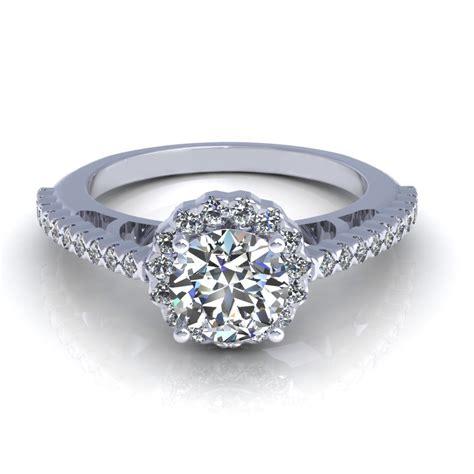 side engagement ring 3d model cgtrader