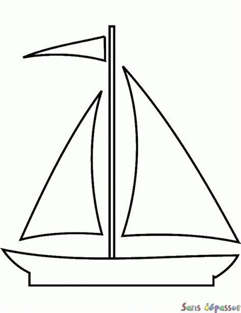 dessin bateau noir coloriage voilier sans d 233 passer