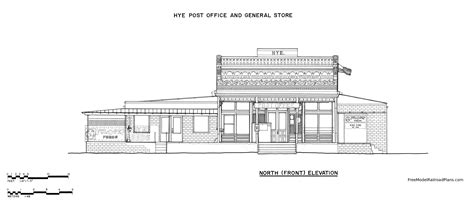 layout of post office free plans post office general store hye texas free