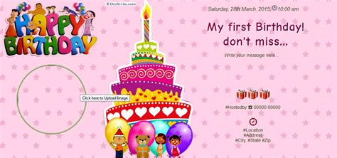 1st Birthday Invitation Card Template In Marathi by My Birthday Don T Miss