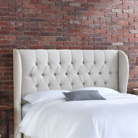 linen headboards tufted wingback linen headboard