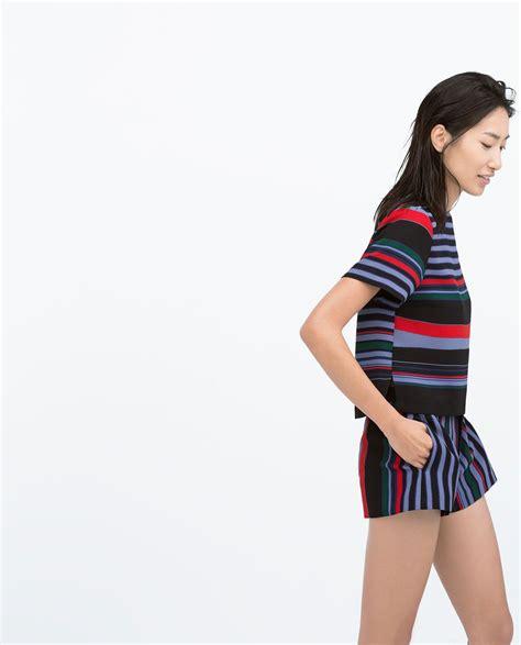 Slit Zara by Zara Collection Ss15 Side Slit Striped Top Clothes