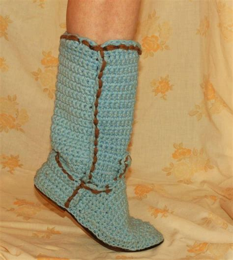 cowboy boot slippers for adults 200 best images about crochet shoes socks gloves on