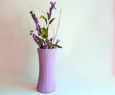 Purple Flowers In Vase by Vase Purple Home Decor Lavender Flower By Carriageoakcottage