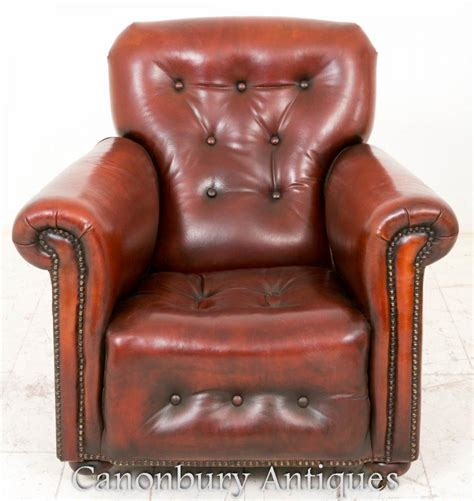 reclining leather club chair art deco reclining leather club chair arm chairs 1930