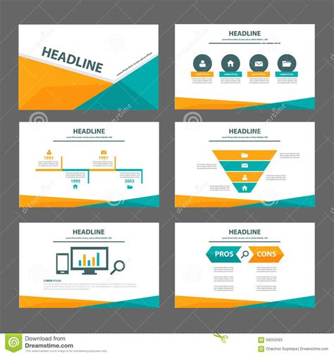 illustrator presentation templates orange and green multipurpose brochure flyer leaflet