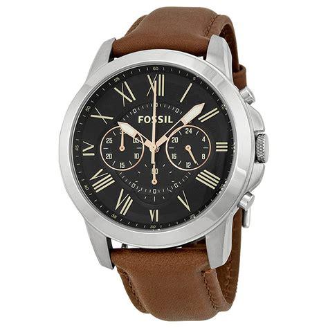 Jam Tangan Bvlgari Mens Rosegold Brown fossil grant chronograph black brown leather s