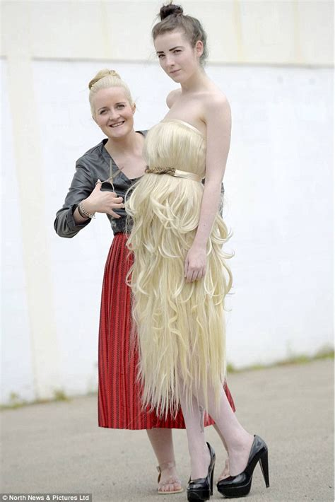 Dress Made From Human Hair Would You Wear It frock of locks the dress made entirely of human hair
