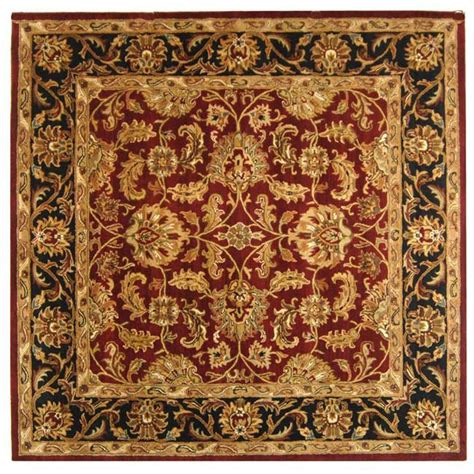 8 x 8 square area rugs safavieh heritage black 8 ft x 8 ft square area rug hg628c 8sq the home depot