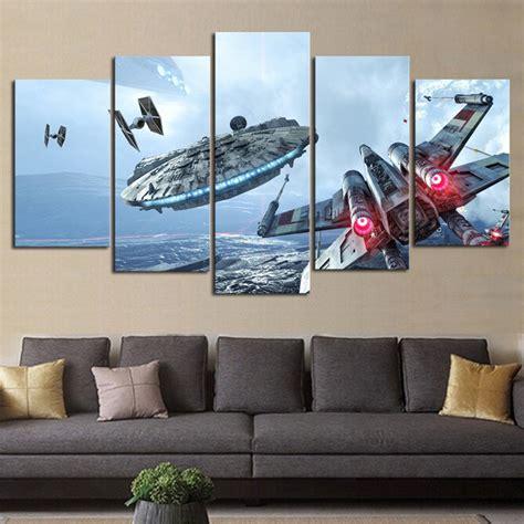 canvas paintings wall art framework millennium falcon