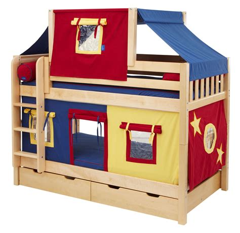 twin bunk beds for kids bedroom designs fun fort bunk bed bed designs for boy