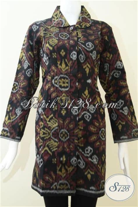 Baju Tenun Asli baju tenun asli model blus lengan panjang cocok untuk
