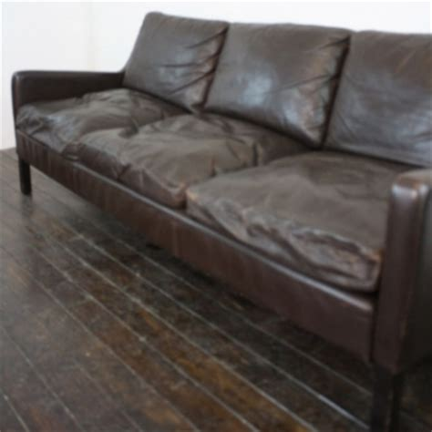 Brown Leather Sofa Cushions Mogensen Style 3 Seater Brown Leather Sofa With Filled Cushions Lovely And Company