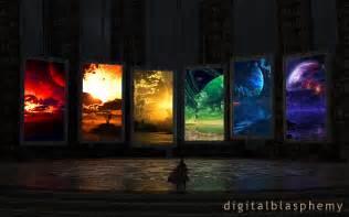 Star Trek Wall Mural digital blasphemy 3d wallpaper portals by ryan bliss