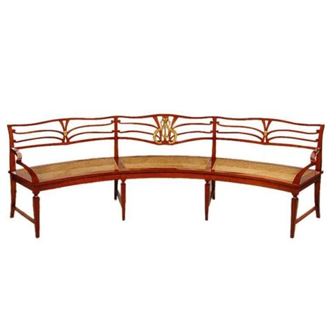 demilune bench demilune neoclassical revival library bench for sale at