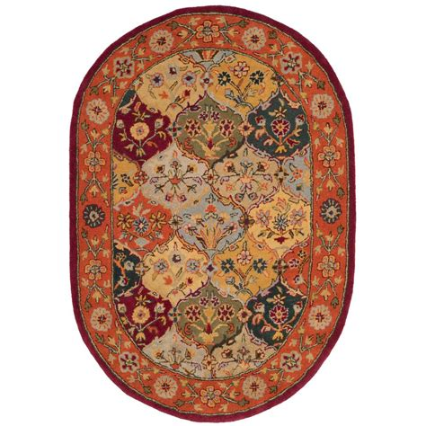 safavieh heritage accent rug in red multi hg926a 2 safavieh heritage multi red 4 ft 6 in x 6 ft 6 in oval