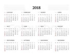 2018 Calendar Monday Start Simple Calendar Template For 2018 Year Stationery Design
