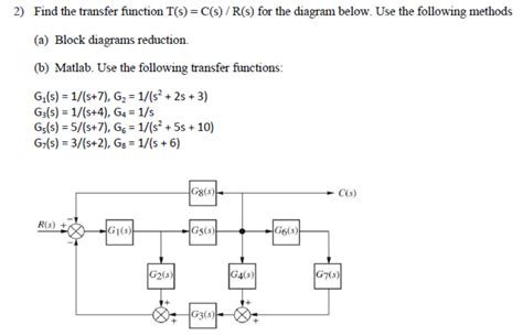 transfer functions from block diagrams find the transfer function t s c s r s for