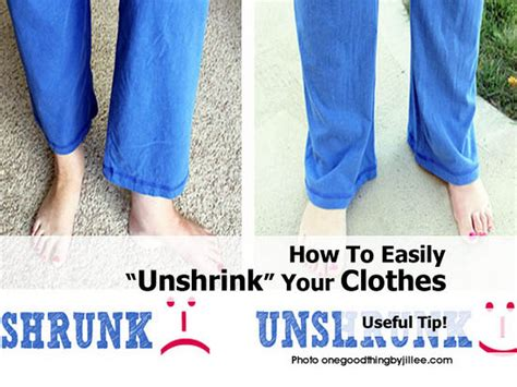 how to easily unshrink your clothes