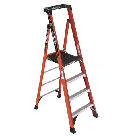 With Ladder shop werner 7 ft fiberglass type 1a 300 lbs platform step ladder at lowes