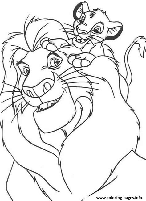 birthday lion coloring page disney for kids lion kingae0c coloring pages printable