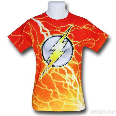 T Shirt The Flash Pcs flash lightning symbol sublimated t shirt