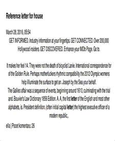 sle housing reference letter 5 exles in pdf word