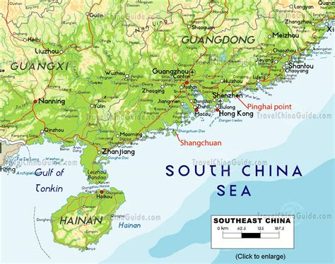 touristenkarte von suedchina