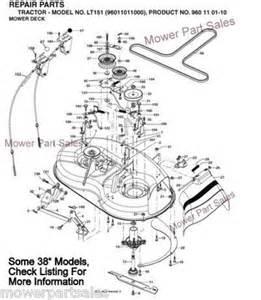 craftsman cutter deck drive belt kevlar fits 38 side