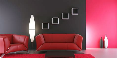 interior design red walls black white and red combination in interior design red