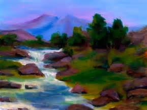 Landscape Pictures For Acrylic Painting Landscape Acrylics Painting 103 Dvd