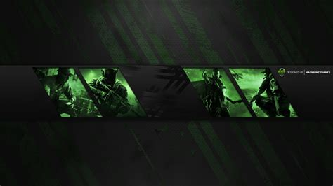 Pro Youtube Gaming Channel Banner Template Panels Banner Template 2560x1440