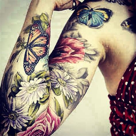 tattoo flower for woman womens flower and butterfly tattoo shoulder google