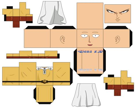 Papercraft Punches - saitama one punch by zienaxd on deviantart