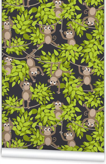 monkey wallpaper for walls muffin mani monkey wall mm0208w wallpaper