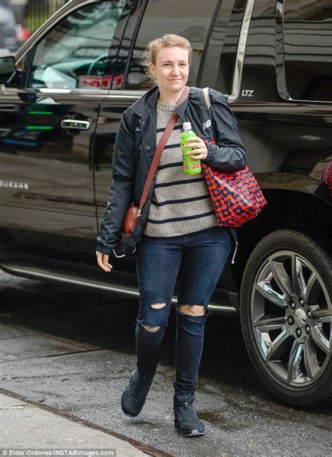 lena dunham new york interview makeup free lena dunham steps out in a covered up casual