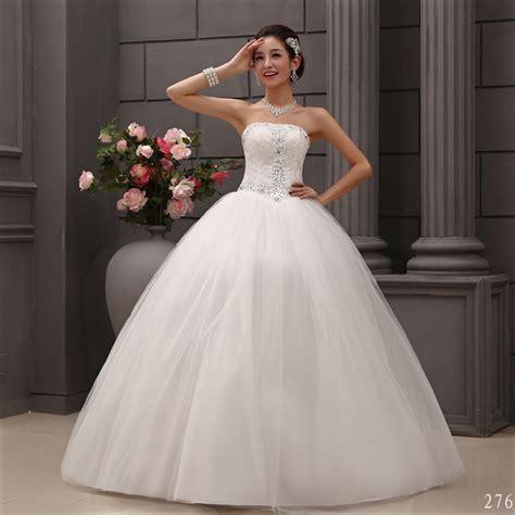 wedding dress strapless beading bridal