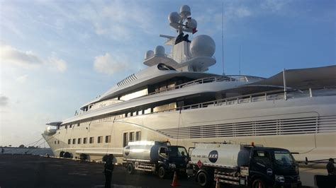 yacht charter jakarta luxury superyacht docked in the marina in indonesia