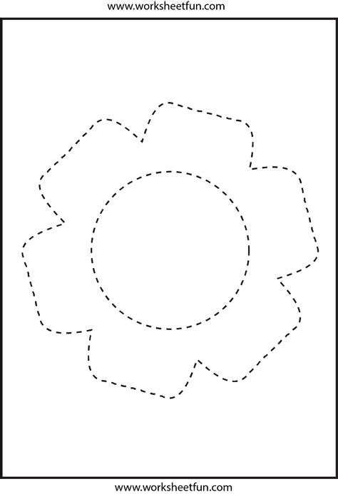 flower pattern worksheet picture tracing flower 1 worksheet free printable