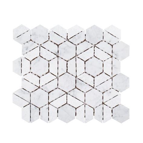 jeff lewis tile jeff lewis bronson 9 1 2 in x 11 in x 8 mm marble mosaic